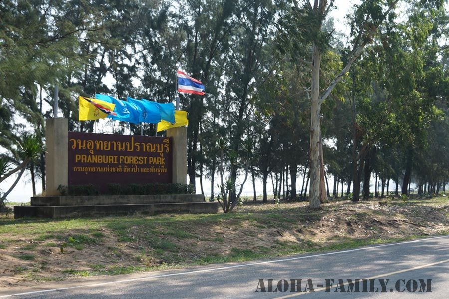 Въезд в Pranburi Forest Park