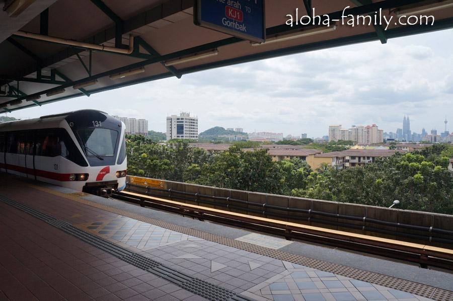 Наземная станция метро Wangsa Maju в КЛ