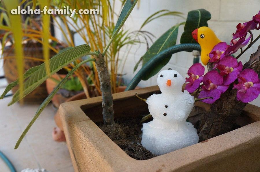 Снеговик в Хуа Хине готовится провожать зиму)))