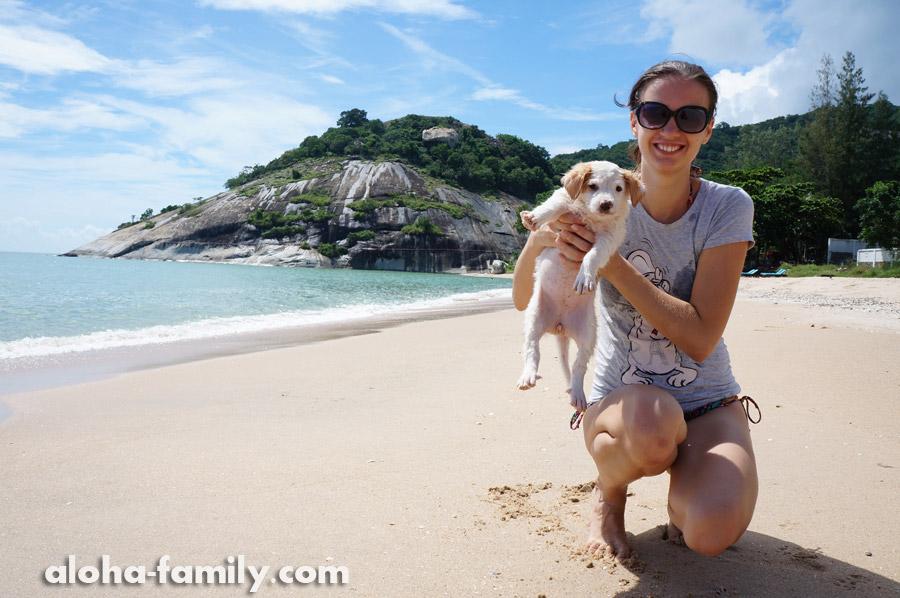 Беременность нашей мечты - начало. Хуа Хин, пляж Сай Ной, 8 октября 2013