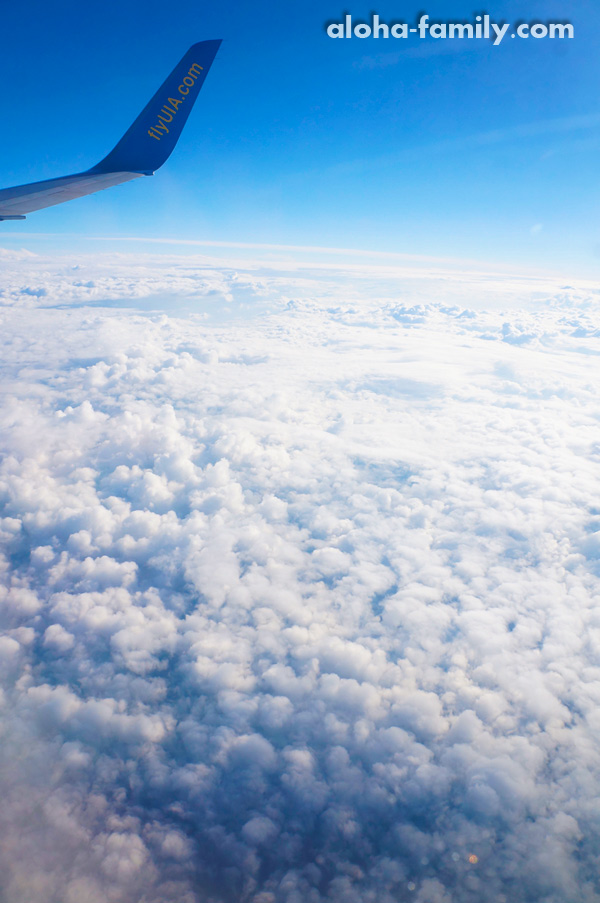 Традиционное фото полёта над Украиной =)