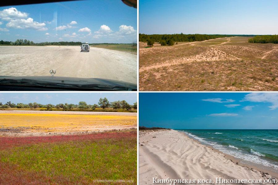 Кинбурнская коса: дороги нет, только утрамбованный песок и степь
