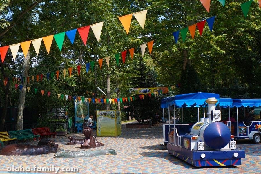 Детский паравозик в зоопарке Николаева