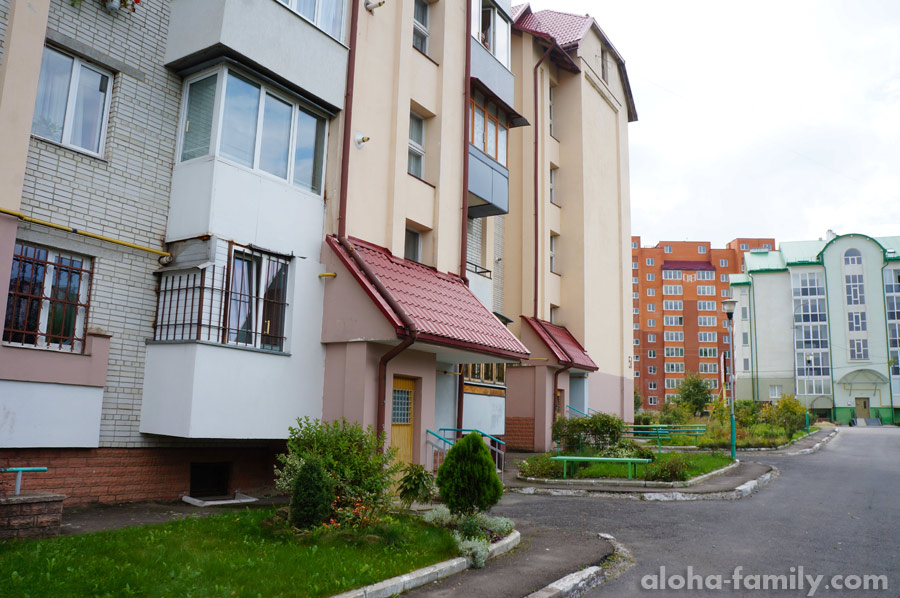 Спальный район в Трускавце, фото рядом с нашим домом