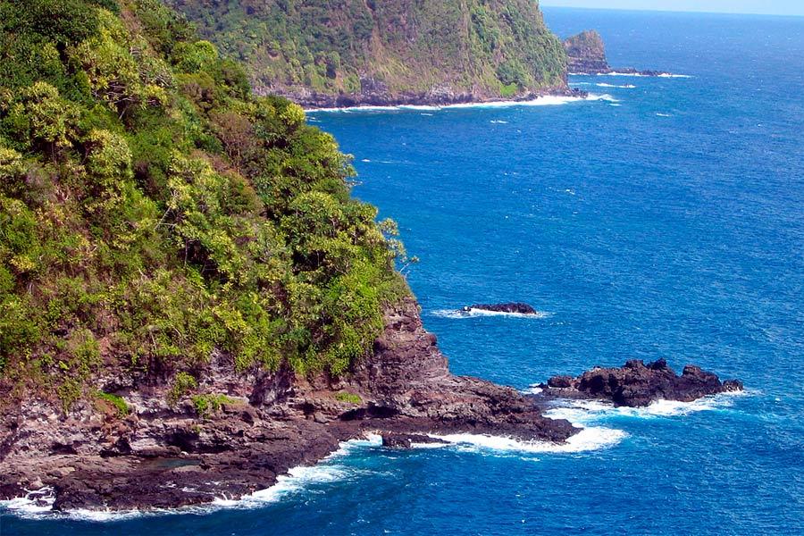 Дорога на Хану - вид на океан