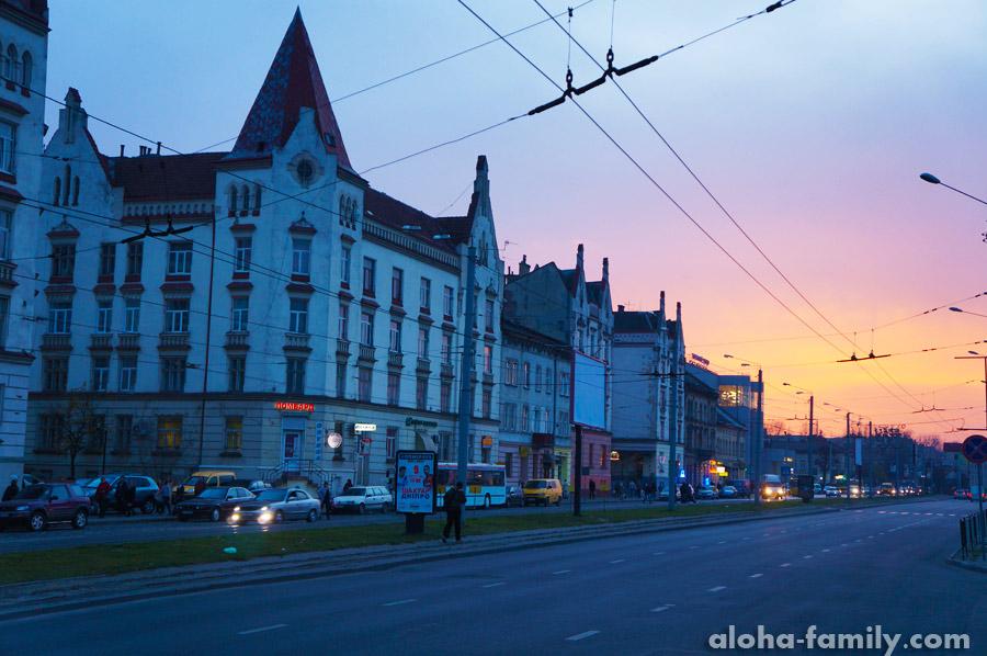 Чудесный закат во Львове