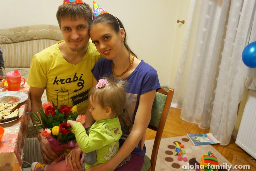 Трускавец, 04 марта 2015 - наша семья, год спустя рождения дочки)))