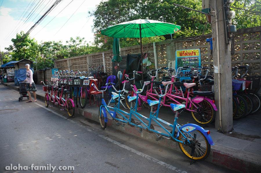 Необычные велосипеды сдаются по всей набережной