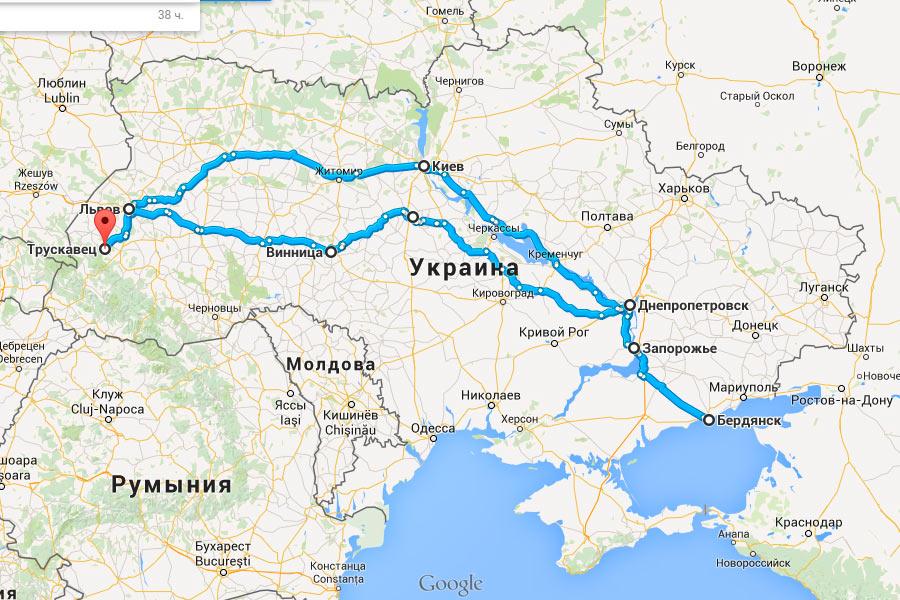 Карта нашей поездки