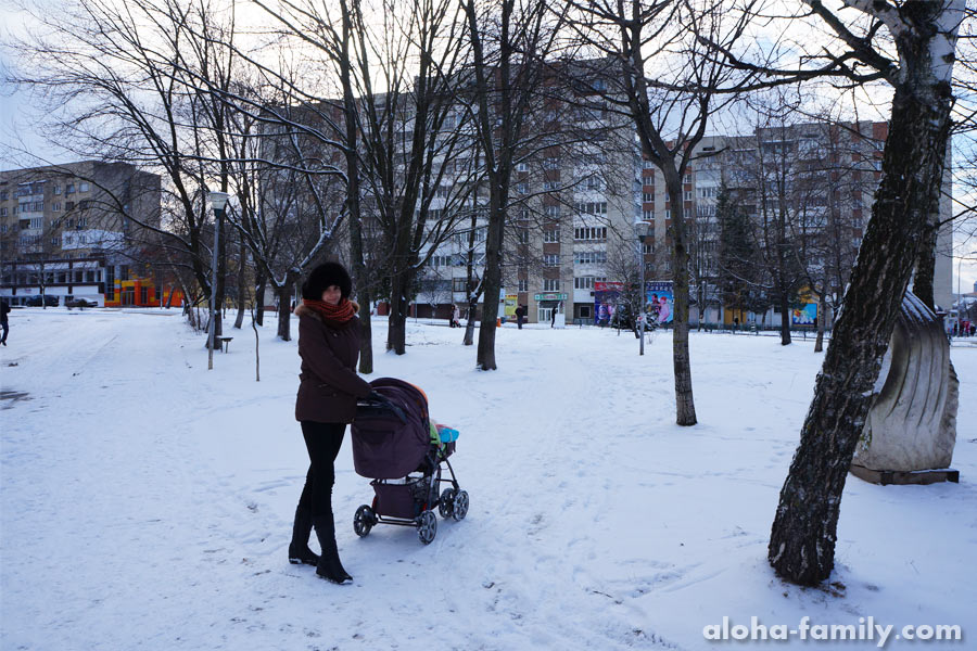 8 февраля - гуляем недалеко от дома