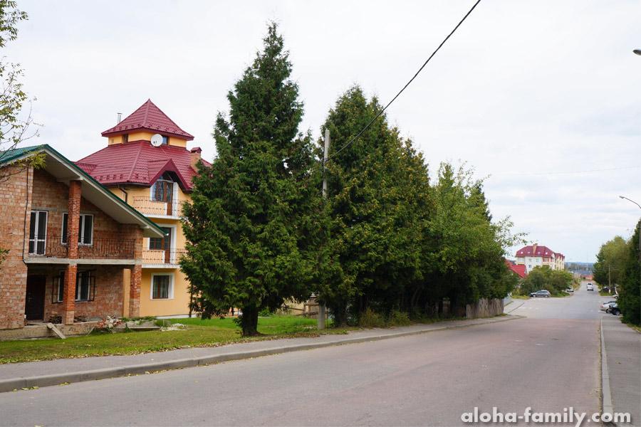 Частный сектор возле поликлиники в Трускавце