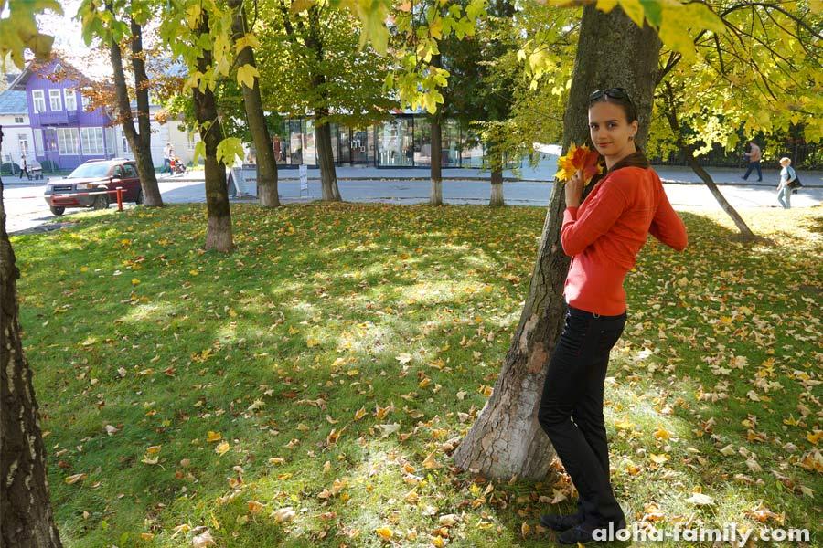 Осенние листья в Трускавце