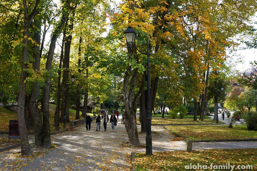 Трускавецкий парк в октябре