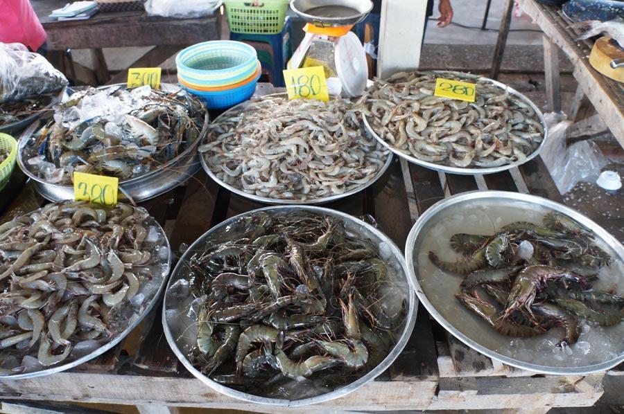 Цены на креветки в Таиланде