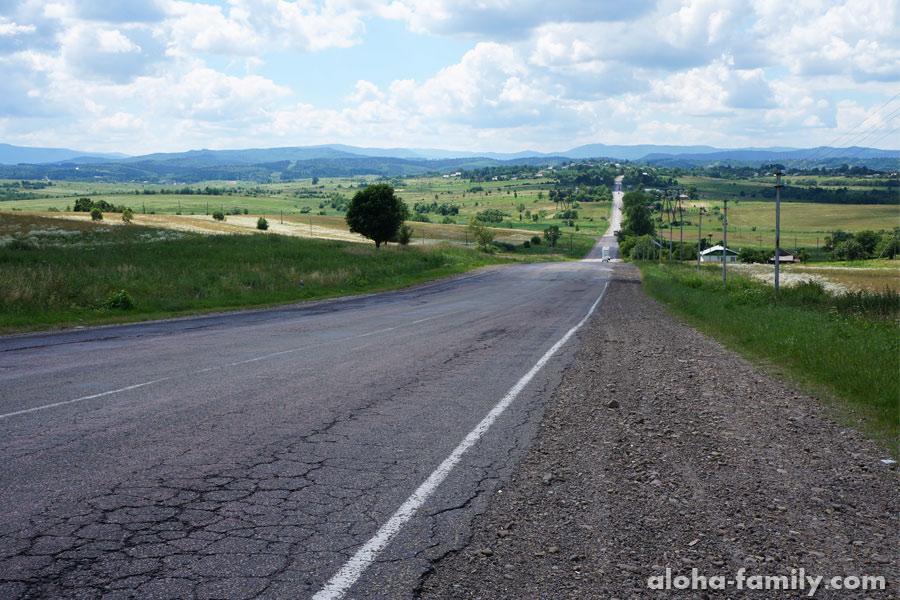 Дорога с Ивано-Франковска в Стрый