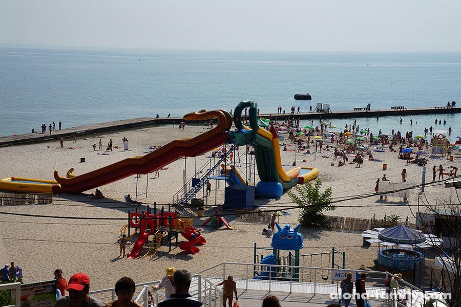 10-ая станция Большой Фонтанки, пляж Чайка - один из самых чистых в Одессе