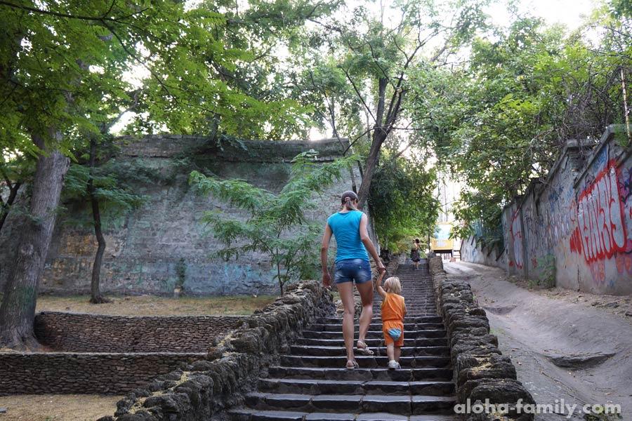 Лестница с Польского спуска на Дерибасовскую