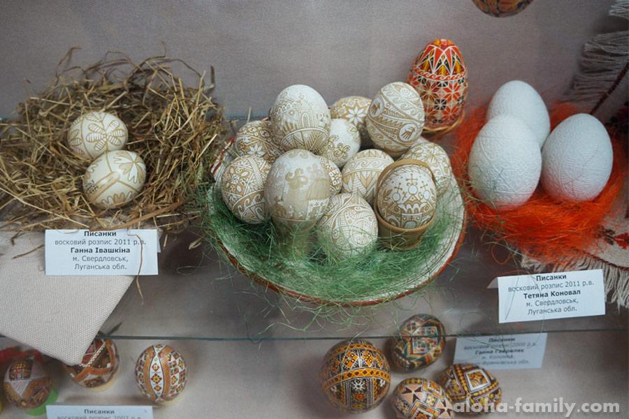 Восковая роспись яиц (работы из Луганской области)