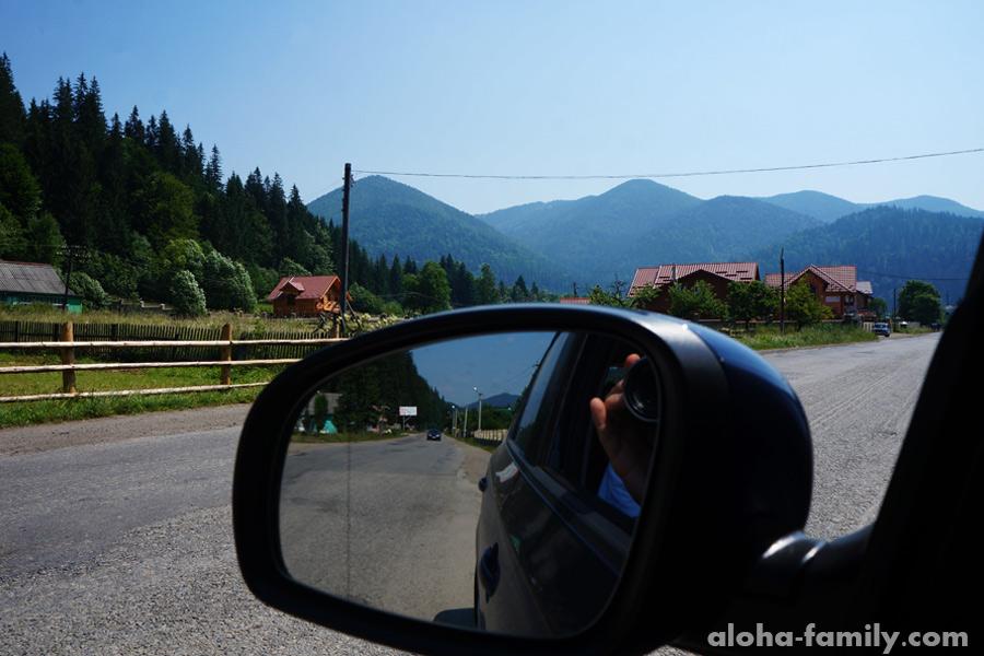 Дорога к Говерле, село Микуличин