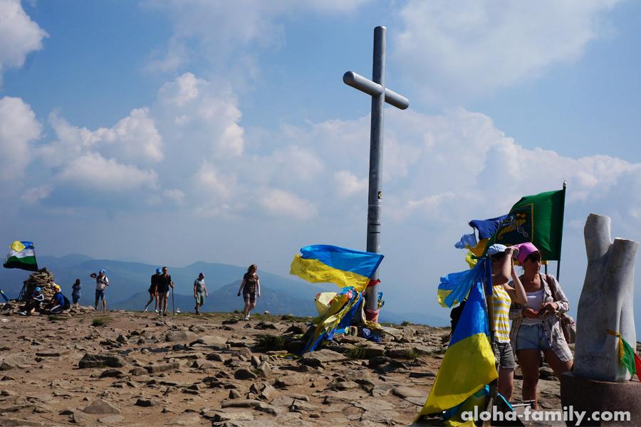 Фото Говерла: на вершине, это самая высокая точка Карпат!