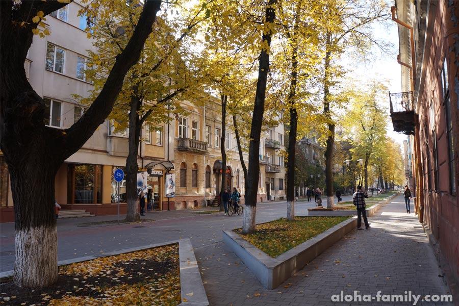 Пешеходная часть улицы Т.Шевченко возле парка