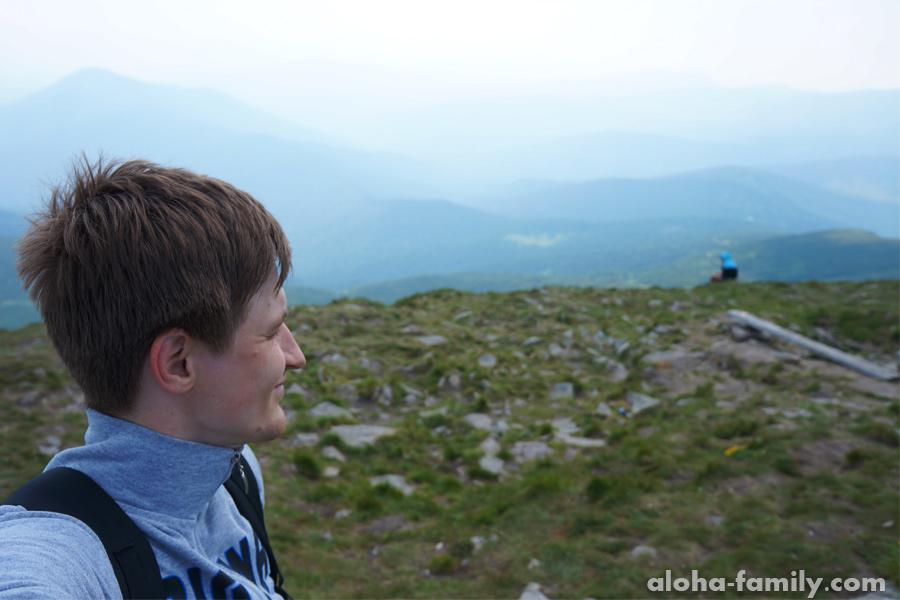 Селфи с Говерлы в сторону Румынии - она от меня всего в 17 км
