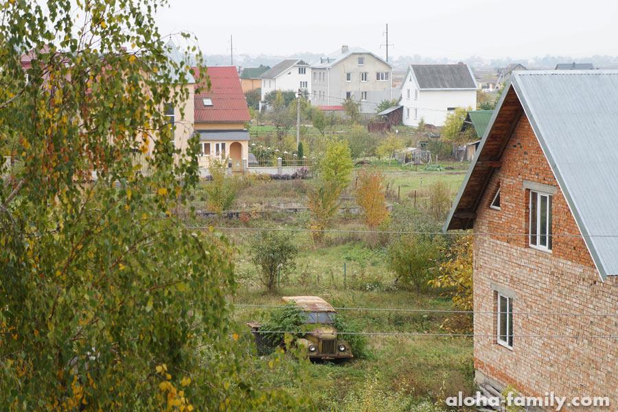 Вид на село Крыховцы из нашей спальни