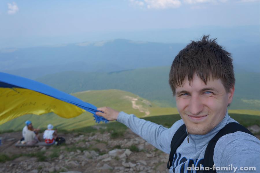 Кажется, я побил свой рекорд по селфи, но у меня уважительная причина! Я на главной вершине Украины!