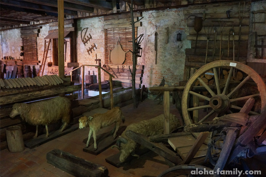 Один из залов в музее Замка Паланок
