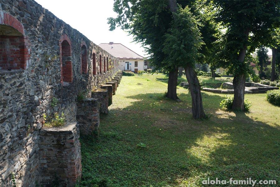 Стены Ужгородского замка изнутри