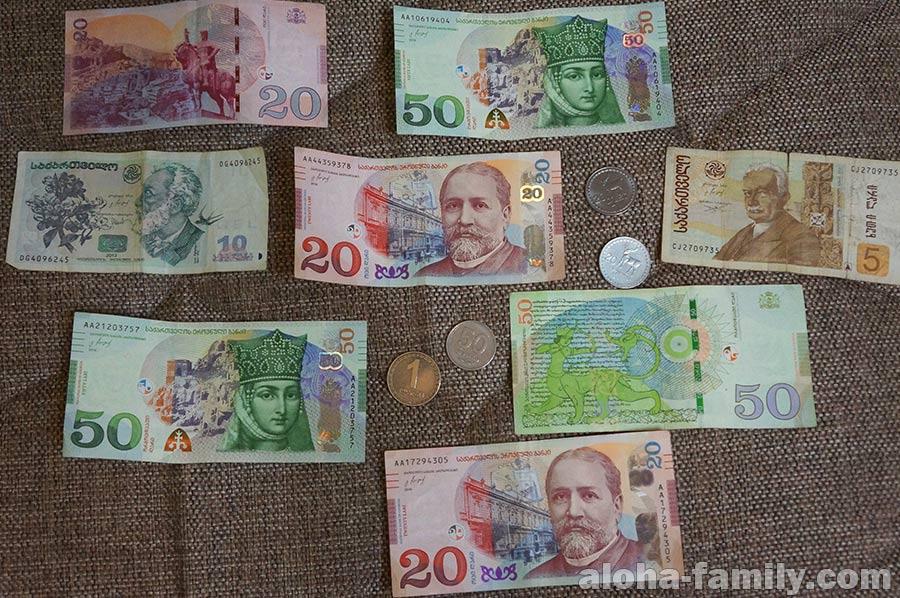 Грузинские лари - купюры и монеты