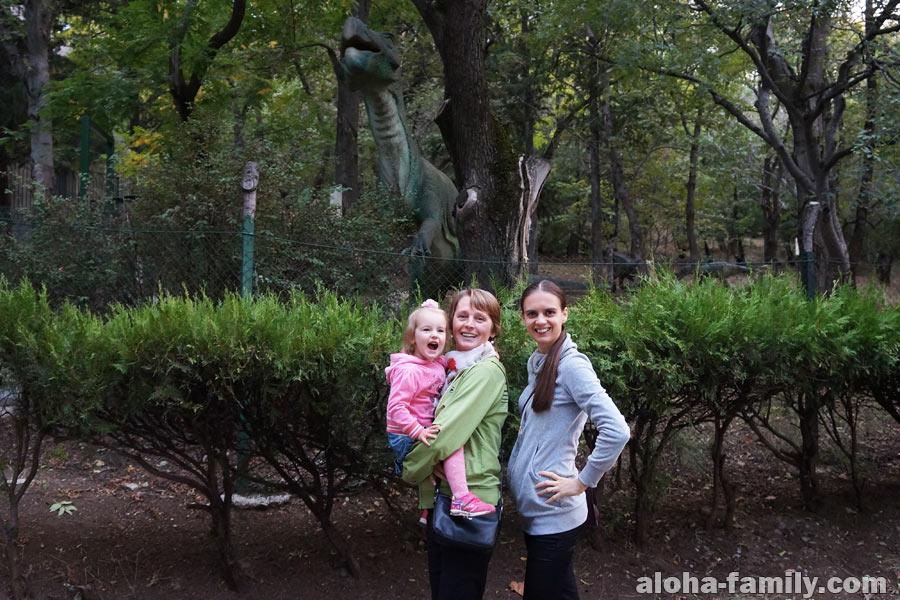 Оливия кайфанула от динозавров, которые двигались!