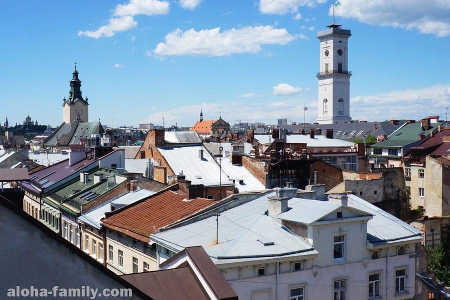 Крыши Львова с площадки одной из его бесчисленных кафешек
