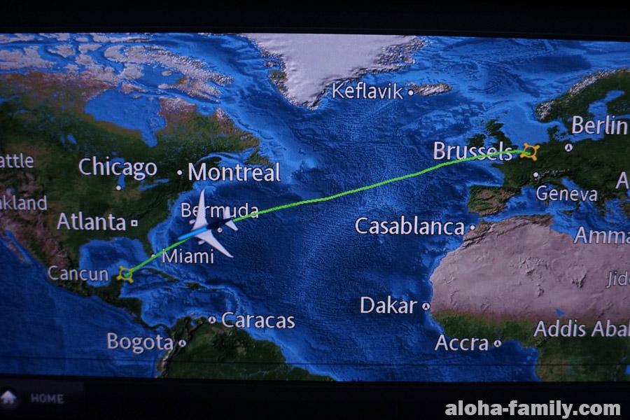 Наш рейс Брюссель-Канкун