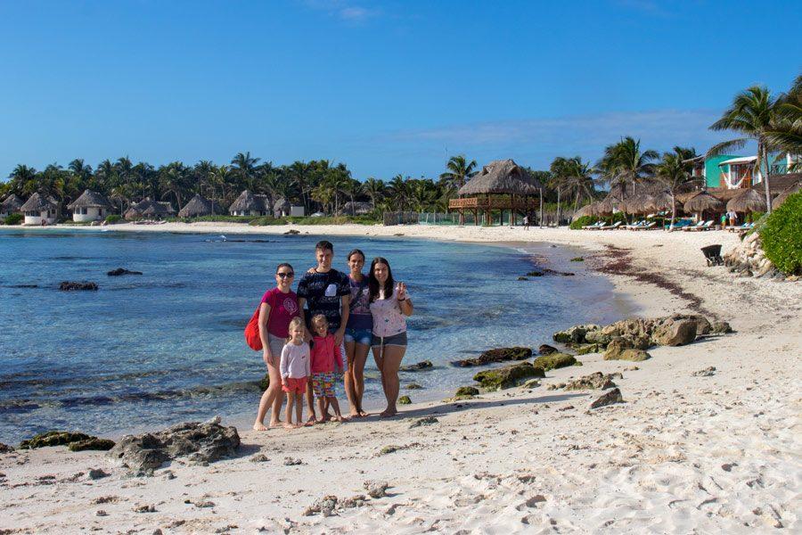 Один из пляжей Тулума в Мексике